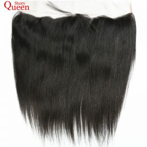 Queen Story Hair Products Free Part 13X4 Ear TO Ear Lace Frontal Closure Malaysian Straight Hair 10-22 Inch 100% Remy Human Hair