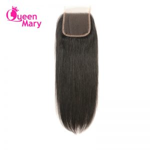Queen Mary Peruvian Straight Hair Closure Non-Remy Hair Natural Color Lace Closure 100% Human Hair Free Part Free Shipping