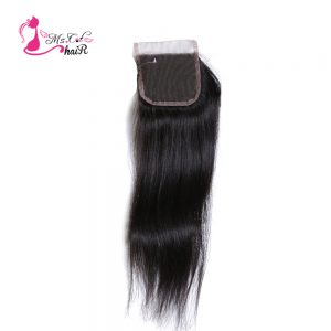 "Ms Cat Hair Products Malaysian Straight Lace Closure With Swiss Lace 100% Human Hair Natural Color 8""-20"" Non Remy Hair Closures"