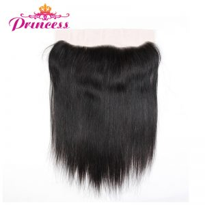 Beautiful Princess Brazilian Straight Hair Lace Frontal Closure 13x4 Free Part Ear To Ear Non-remy Human Hair Closure