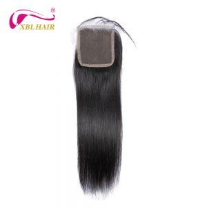 "XBL HAIR Straight Free Part Lace Closure Peruvian Remy Human Hair 4*4"" Size 8-20"" Available Free Shipping"