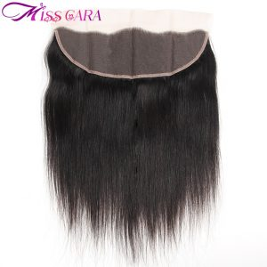 Miss Cara Hair Brazilian Straight Hair Weave 13x4 Ear to Ear Lace Frontal Closure  Free Part  Remy Human Hair