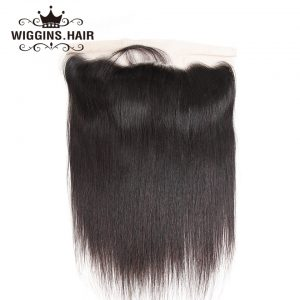 Wiggins Brazilian Hair Lace Frontal Closure Straight Hair  Ear To Ear 13x4 Closure With Baby Hair 100% Human Hair Non Remy