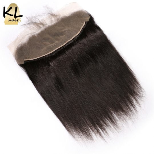 KL Hair Free Part 13x4 Ear To Ear Lace Frontal Closure Straight With Baby Hair Brazilian Human Remy Hair Closure Bleached Knots