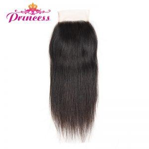 Beautiful Princess Brazilian Straight Hair Non-remy Hair Lace Closure 4*4 Free Part Closure 100% Human Hair Shipping Free