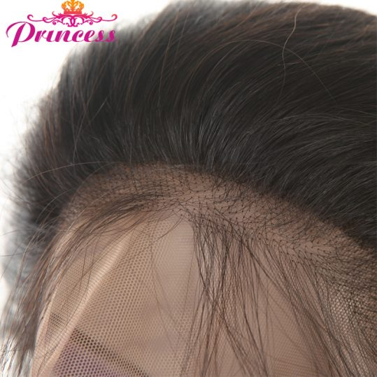 Beautiful Princess 360 Lace Frontal Closure With Baby Hair Peruvian Straight Hair Human Hair with Natural Hairline Non-remy