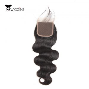 Wiggins Brazilian Body Wave Lace Closure Free Part 100% Human Hair Non Remy Hair 1 Piece 8-20inch 120% Density Swiss Lace