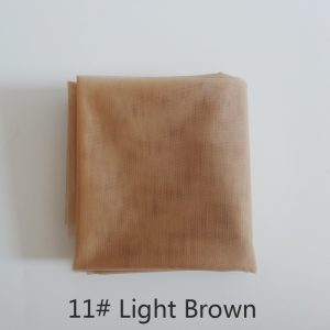 1 yard light brown swiss lace for wig making and wig caps lace wigs material or lace closure, 5 color available high quality