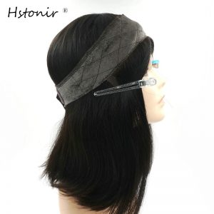 Hstonir Kosher Wig Lace Grip European Hair Front Blond Velvet Elastic I Band Invisiable Natural Hairline Jewish Type
