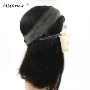Hstonir Kosher Wig Lace Grip European Hair Front Blond Velvet Elastic I Band Invisiable Natural Hairline Jewish Type