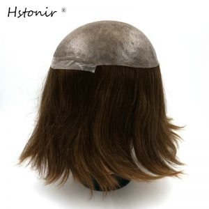 Hstonir Top Quality Factory Direct Injected Silicon Euorpean Hair Piece Hair Toupee Hair Replacement System H076