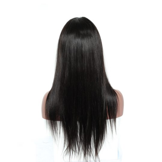 180% Density 360 Lace Frontal Wig Pre Plucked Brazilian Silky Straight Human Remy Hair Natural Black 12-24inch