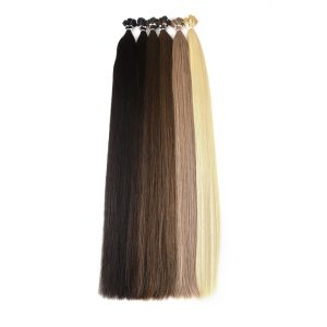 Brazilian Straight Human Fusion Hair I Tip Stick Keratin Double Drawn Remy Hair Extension 1.0 g/s 100g 28 inches 6 Colors