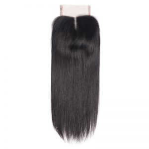 Yelo Human Hair Middle Part 130% Density Swiss Lace Non Remy Hair Natural Color Bleached Knots Straight Can Be Dyed and Restyled