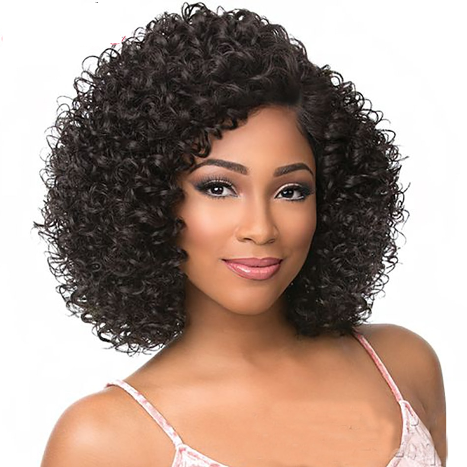 Human Hair Lace Wigs Fine Short Human Hair Wigs With Bangs Brazilian Ocean Wave Remy Human Hair Wigs For Black Women