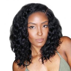Short Lace Front Human Hair Wigs Brazilian Natural Wave Remy Hair Bob Wig For Black Women Pre Plucked with Baby Hair