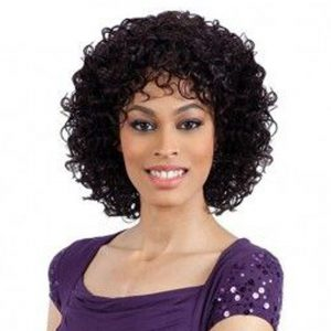 Short Human Hair Wigs Non-Remy Human Hair Curly Wigs For Women 100% Human Hair Machine Made No Smell 6.75 Inch