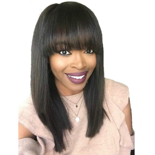 Straight Wigs Remy Brazilian Human Hair For Women 100% Human Hair 10 Inch
